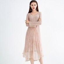 estilo primavera novo Vestido
