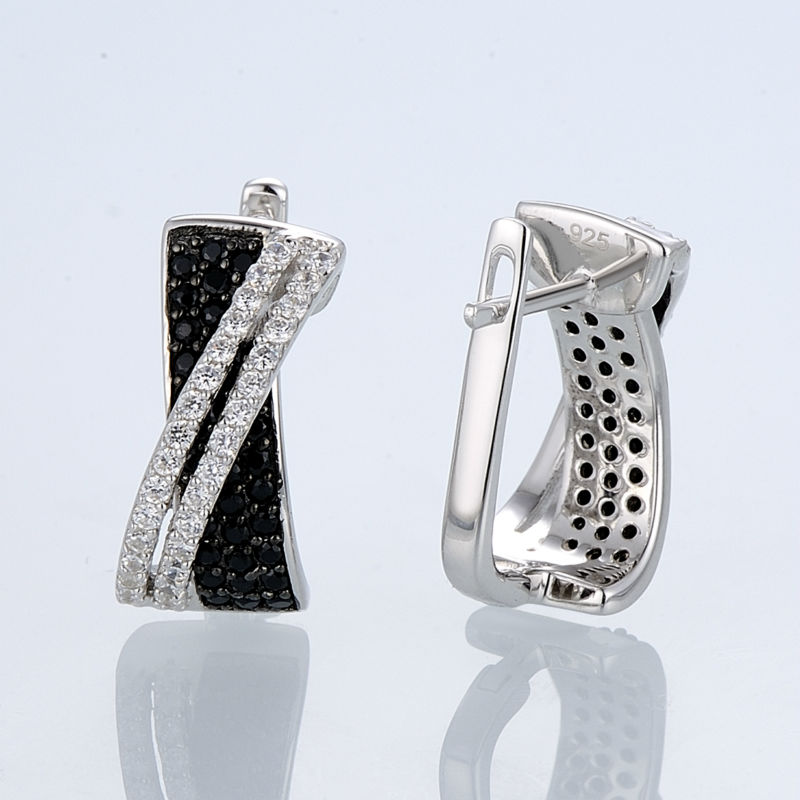 Silver Earrings E303189BSNZSL925-SV3-W