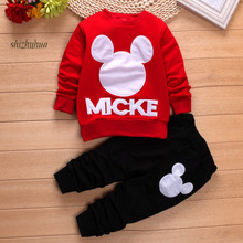 High Quality Childr Clothing 2017 Spring and Autumn Season Kids Clothes Boys and Girls Sports Suits 1-5 year Old Baby Clothing