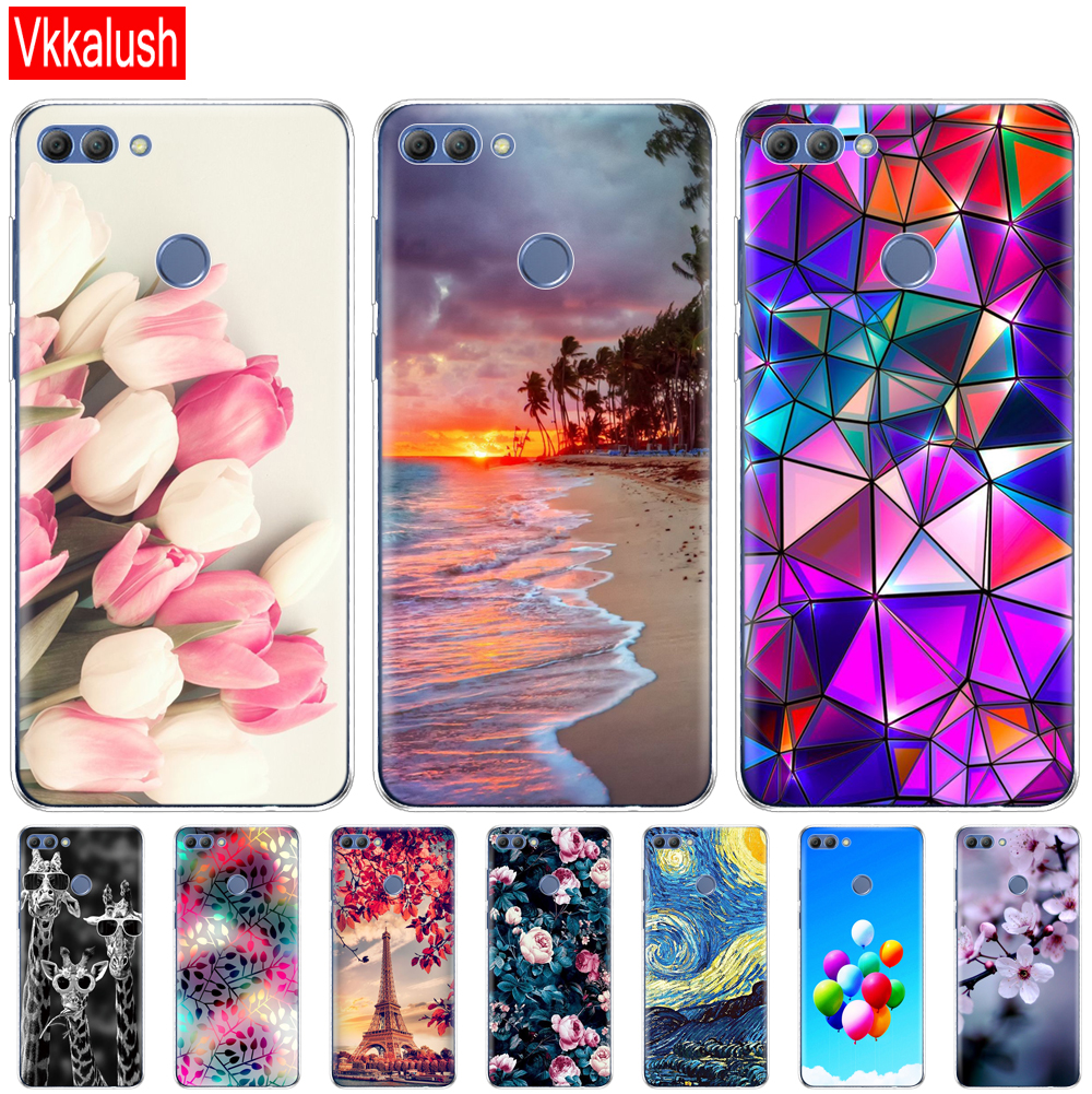 cover phone <font><b>case</b></font> for <font><b>huawei</b></font> P smart <font><b>2018</b></font> Enjoy 7S soft tpu Silicon shell cover 360 full protective printing transparent coque image