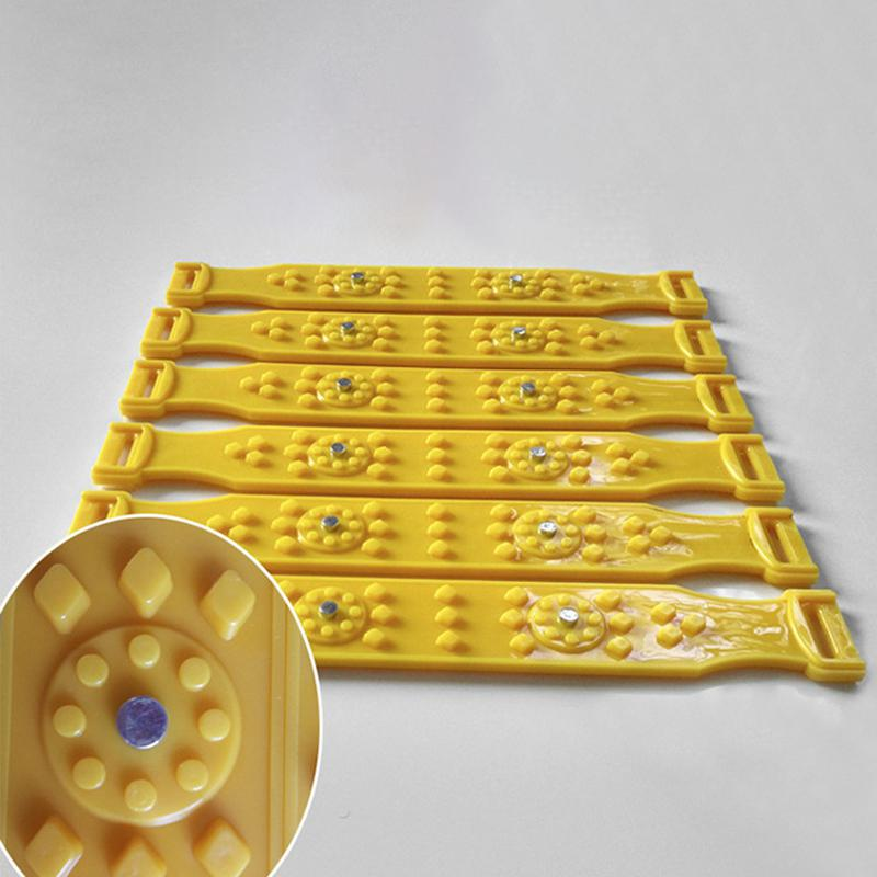 LumiParty 10 pièces/ensemble TPU voiture neige chaînes universel voiture neige pneu chaînes boeuf Tendon véhicules roue antidérapant TPU chaîne r30