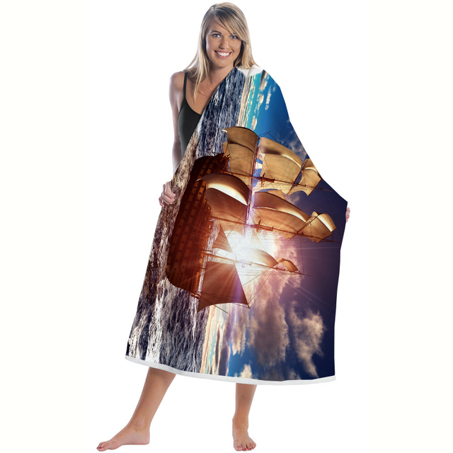 Sea Ship Microfiber Beach Towel 2