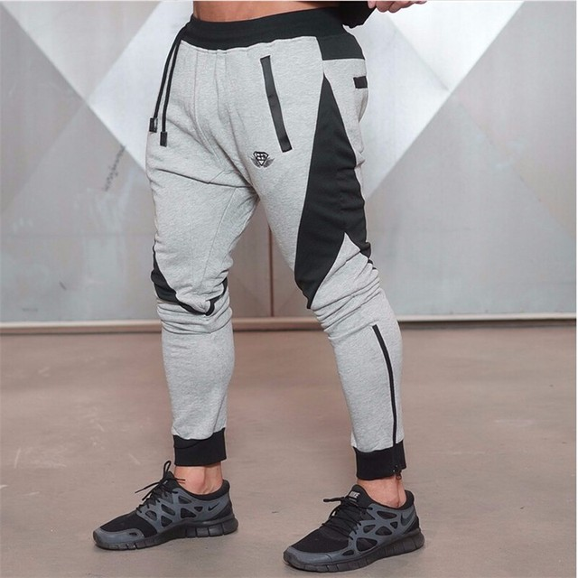 2016 New Gold Medal Fitness Casual Elastic Pants, Stretch Cotton Men's  Pants Body Engineers Jogger