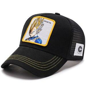 Image 3 - 2019Newファッションドラゴンボール野球キャップ男性通気性メッシュスナップバックキャップ太陽の帽子骨キャスケットヒップホップキャップお父さん帽子