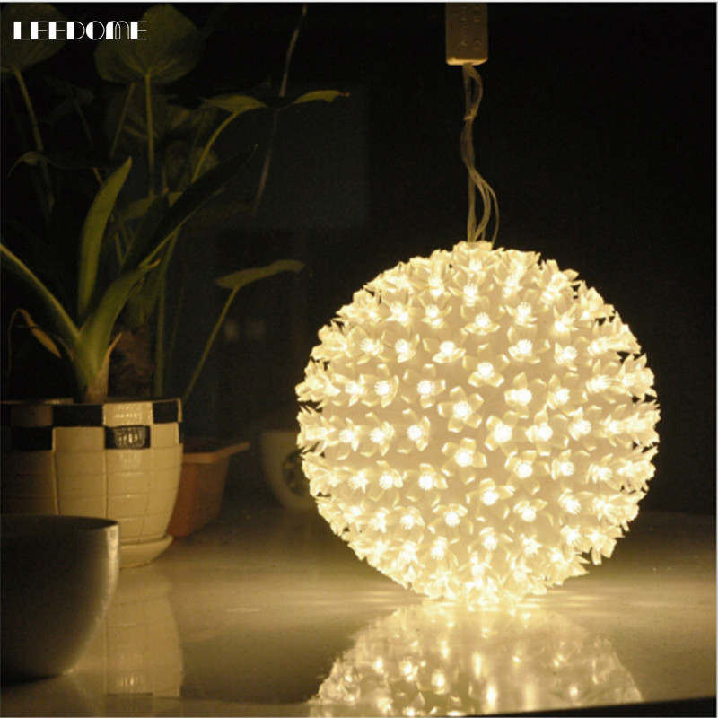 Dropship AC220V EU Plug Cherry Blossom Flower Ball Holiday Light White / Warm White / Colourful Christmas Party Decor Luminaire