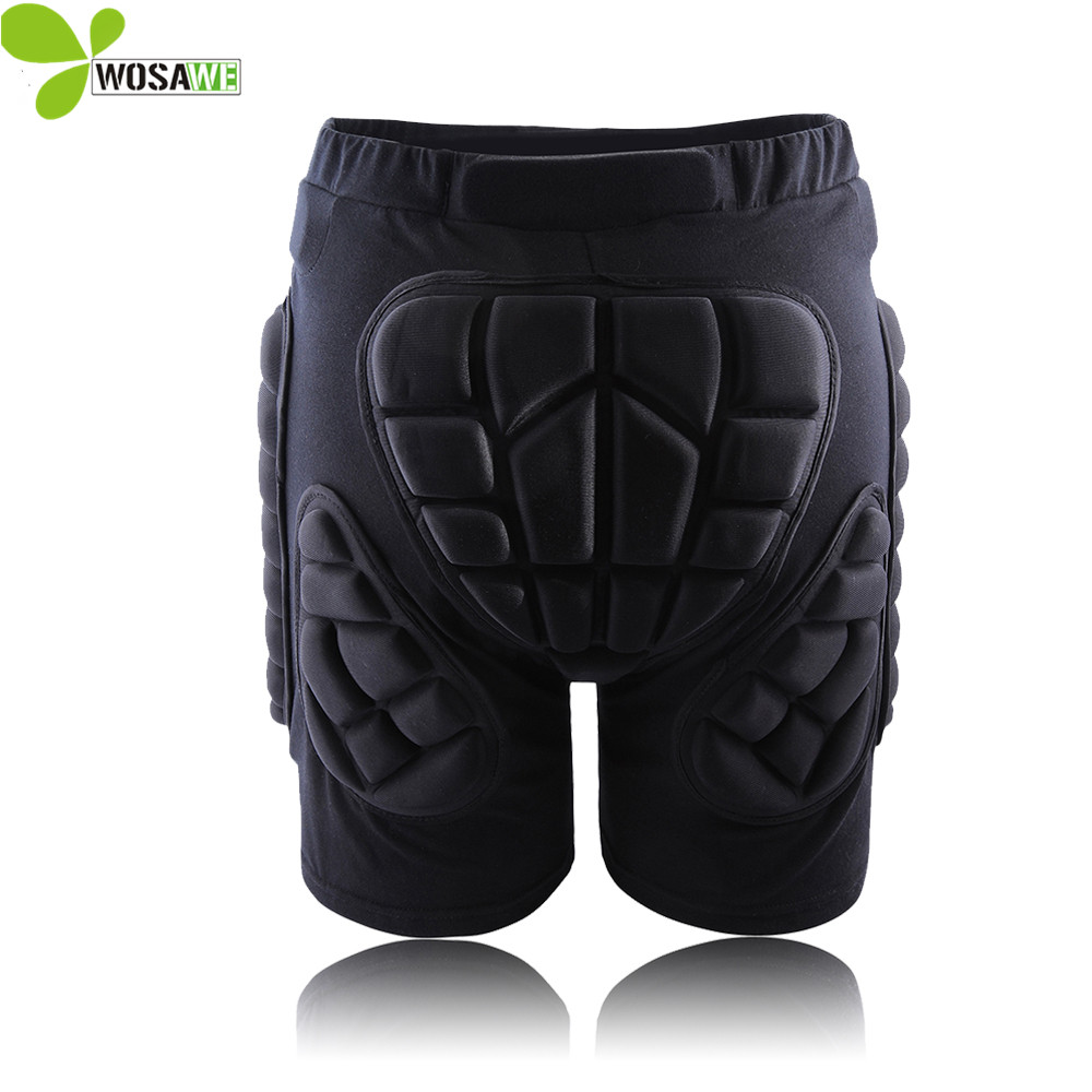 WOSAWE Hip Butt Court De Protection Pad Skate Snowboard Ski Shorts Roller Rembourré Protection Gear Racing Body Armor Shorts