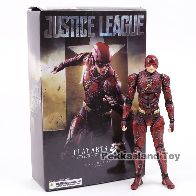 Play Arts Kai Justice League NO.2 The Flash PVC Action Figure Collectible Model Toy play arts kai kingdom hearts roxas pvc action figure collectible model toy