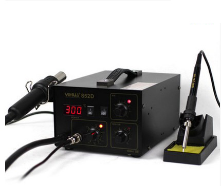 YIHUA 852D 2 Dans 1 matériel de soudure YIHUA 852D (Pompe À Membrane) matériel de soudure de Reprise avec chaude pistolet à air et fer à souder