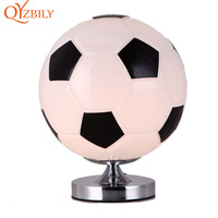Table bedroom lamp home deco football lamp bedside for living room modern bed basketball deco table Children gift nightstand