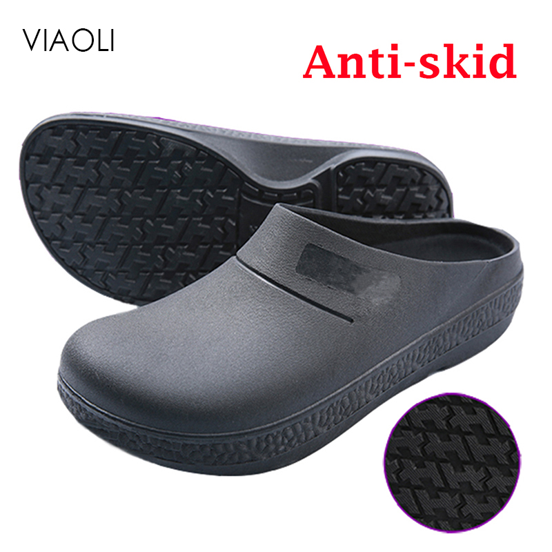 Non-slip Chef shoes oil and waterproof Restaurant Kitchen Hotel Cook Work Laboratory Shoes Breathable Protective Shoes Men Women