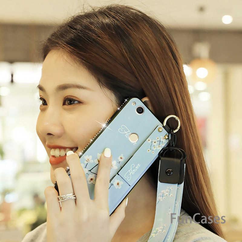 יהלומי רטרו צמיד טלפון מקרה עבור Huawei נובה 4 3 3i 3e P20 לייט פרו כבוד 8a 8x8 9 10 לייט בד רך + TPU שרוך כיסוי