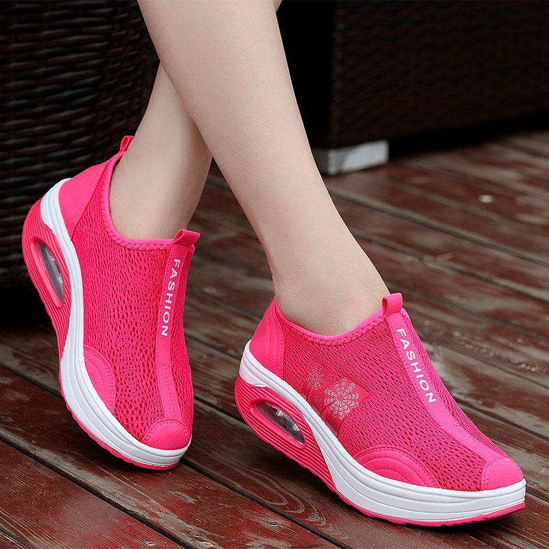 MWY Fitness Shoes Rocking Healthy Platform-Sneakers Women Breathable Deportiva Lose-Weight