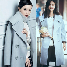 Long  Light blue Coat