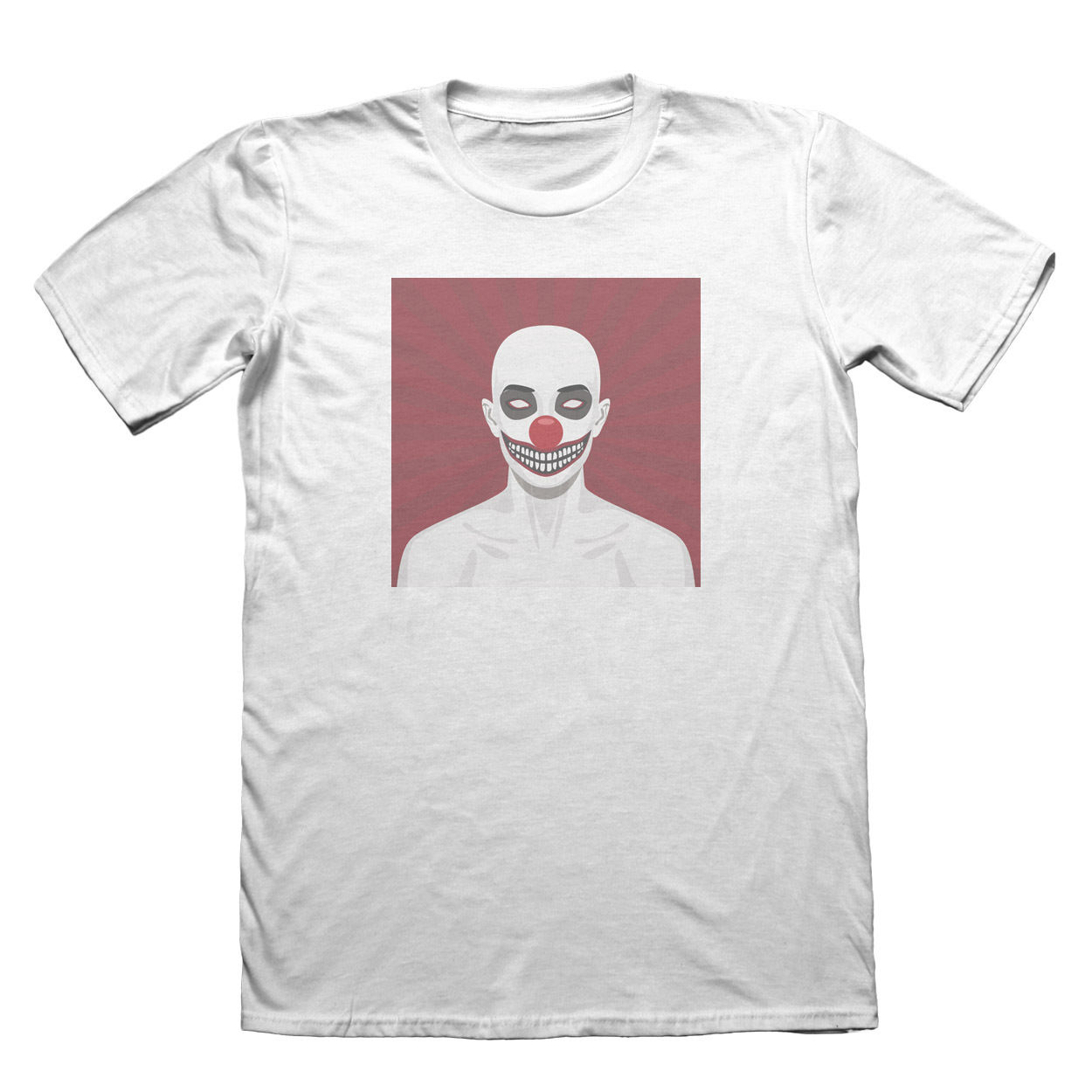 Scary Clown T-Shirt - Mens Fathers Day Christmas Gift #7423