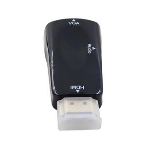 Image 3 - CHIPAL 10 adet 1080P HDMI için VGA dönüştürücü adaptör ses kablosu All in one PC Tablet dizüstü bilgisayar masaüstü monitör HDTV