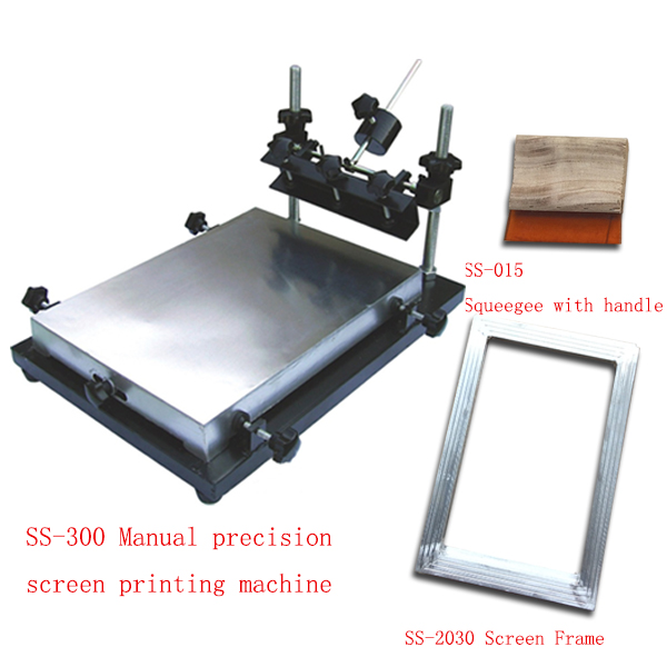 hand operation manual flat bed silk screen printing machine