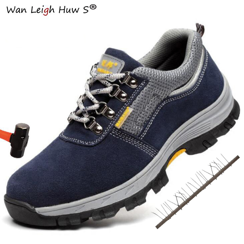 36-46 Men Work Safety Shoes Steel Toe Cap Warm Breathable Men's Boots Puncture Proof Labor Insurance Shoes Large Size Male Boots