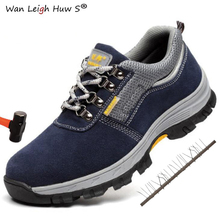 36-46 Men Work Safety Shoes Steel Toe Cap Warm Breathable Mens Boots Puncture Proof Labor Insurance Large Size Male