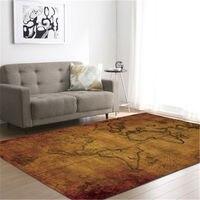 Vintage Carpets For Living Room Floor Mat World Map Long Rugs Floor Mattress Tapete Decorativa Rugs For Home Cactus Rug London