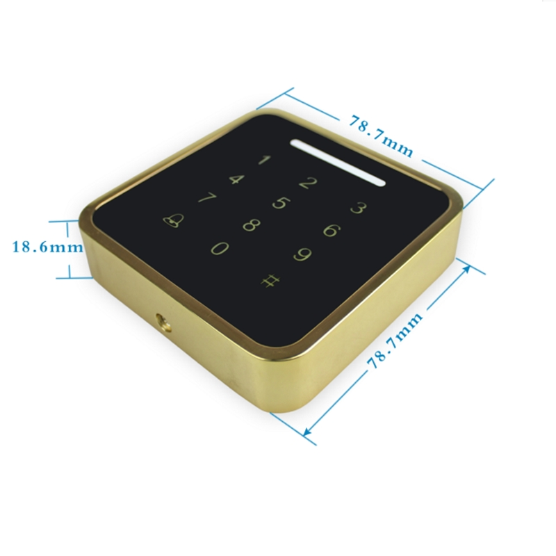 Metal Case Access Controller Password ID Card Reader 125KHz RFID Access Control Keypad 13.56mhz original access control card reader without keypad smart card reader 125khz rfid card reader door access reader manufacture