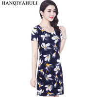 Hot Sale Summer Dress 2014 O Neck Short Sleeve Floral Print Dress For Women Promotional Discounts