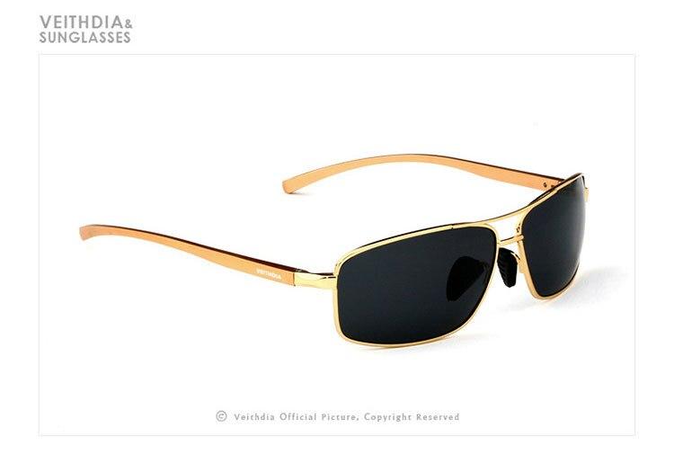 Стильные новые поляризованные мужские солнцезащитные спортивные очки. В наличие 3 цвета. Алюминевая оправа, мужские солнцезащитные очки для вождения. Очки, аксессуары для глаз. Артикул- 2458 - Цвет линз: Золотой