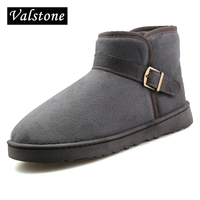 Valstone Lovers Winter Causual Cotton Shoes Women S Slip On Breathable Fluff Shoes Warm Walking Snow