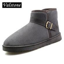 Valstone любителей зимняя повседневная бархатная обувь Для женщин Slip-On дышащие пух обувь Теплый Прогулки Зимние ботинки Hombre пара размер 45