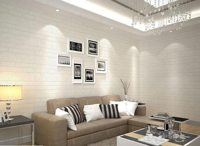 3D Thickening White Brick Wallpapers For Walls TV Background Wall Paper Roll Clothing Store Studio
