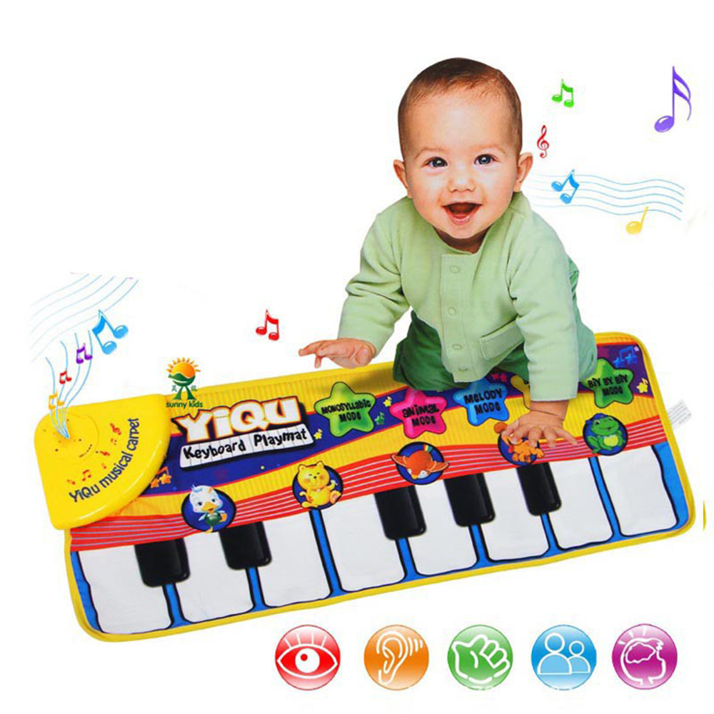 Play Mats Baby Musical Carpet Keyboard Music Play Mat Piano Early Learning Educational Toys For Children Kids Puzzle Gifts