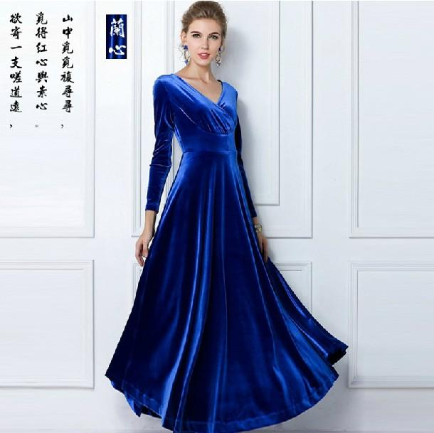 High Quality Autumn And Winter Formal Dress Long Sleeve Dress