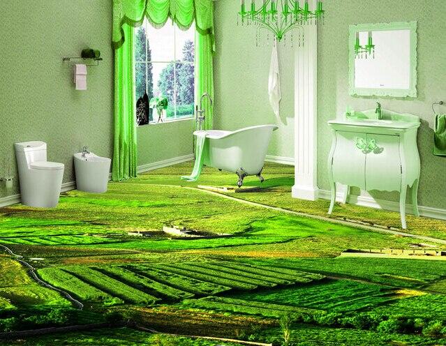 Glazed Ceramic Tiles 3d Background Floor Tile In Garden Buildings