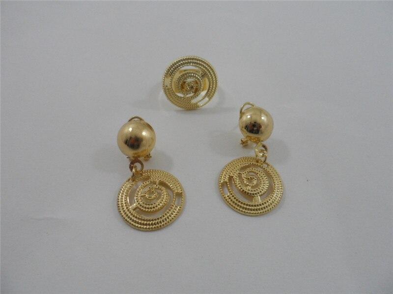 2014 Design fashion Dubai Jewelry 18K Gold Plated Net Shape Fancy