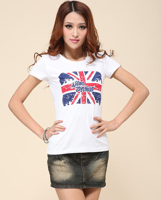 Hot new women's fashion cotton short sleeve  printed t-shirts with short sleeves in the summer of 2014 S/M/L/XL/XXL XXXL/XXXXL