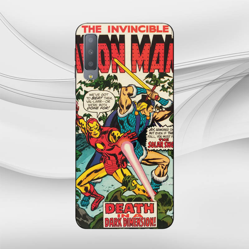 Soft TPU Marvel Comics Case For Samsung Galaxy S10 E A6 A7 A8 A9 Note 9 J6 Prime J4 Plus J8 J7 J3 2018 EU Version Phone Cover