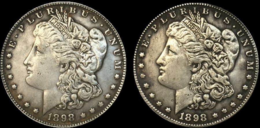US Ancient Two Face Coin Morgan Dollar 1878 Double Headed