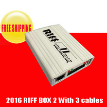 RIFF box V2 Best Jtag For HTC,SAMSUNG,Huawei Unlock&Flash&Repair With 2 pcs flat cables(China)