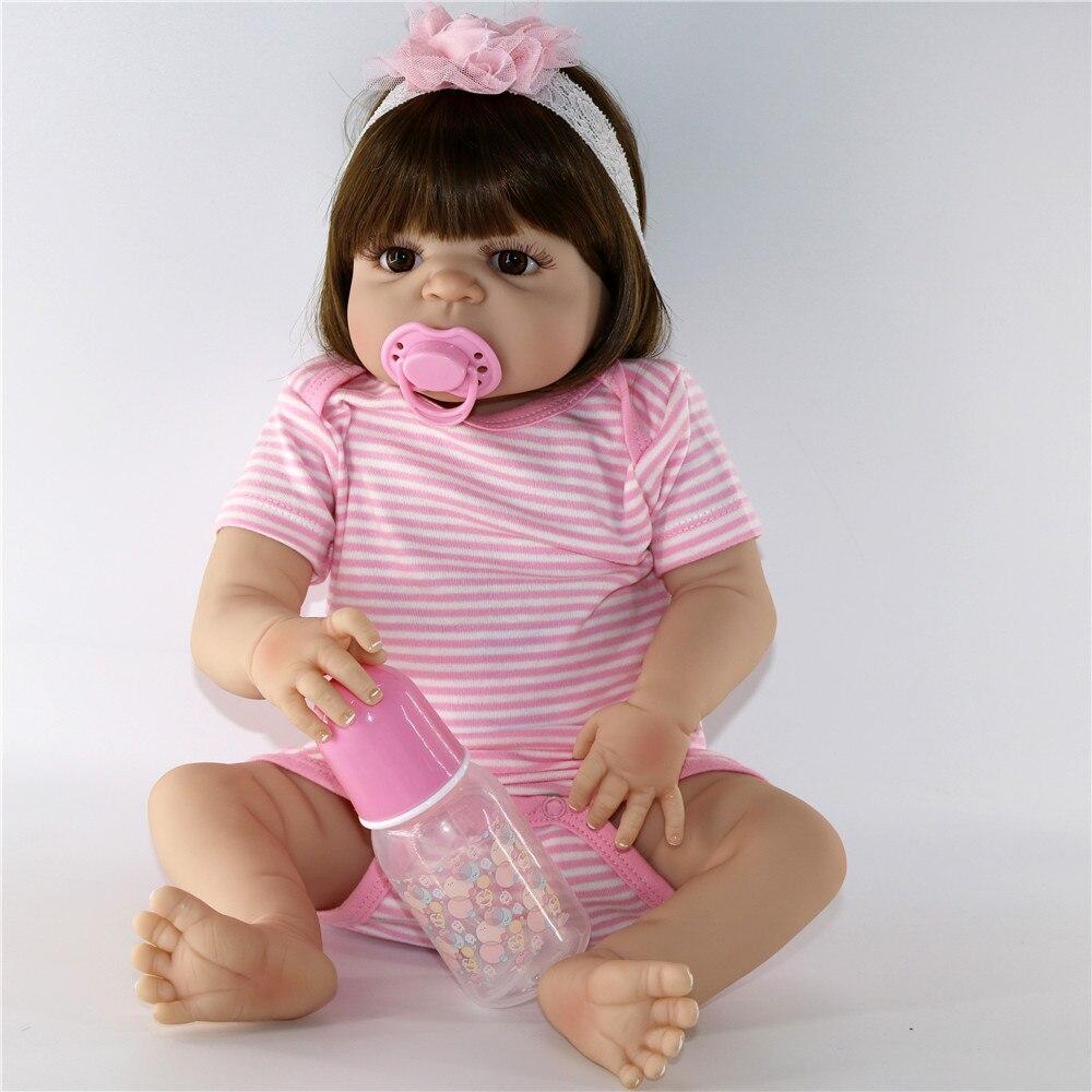 Bebes Reborn NPK poupée 57 CM corps complet silicone poupée fille Reborn bébé poupée jouet de bain réaliste nouveau-né princesse victoria Bonecas