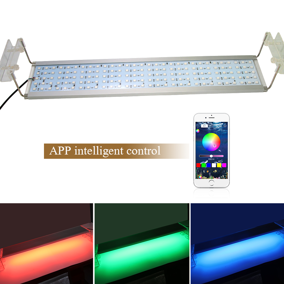 Rgb Led Lamp For Aquarium Light Fish Tank Clip On Led Light For Aquarium Led Lighting Fixtures Extendable Bracket 50 60 70 Cm Lightings Aliexpress