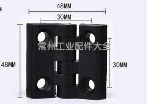 Image 5 - 10 teile/satz Schwarz Farbe Nylon Kunststoff Butt Scharnier für Holz Box Möbel Elektrische Schrank Hardware