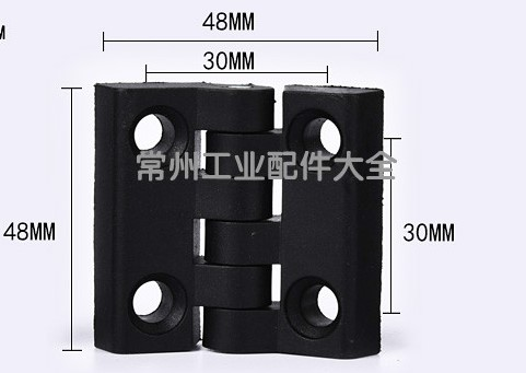 Image 5 - 10pcs/set Black Color Nylon Plastic Butt Hinge for Wooden Box Furniture Electric Cabinet Hardware-in Door Hinges from Home Improvement