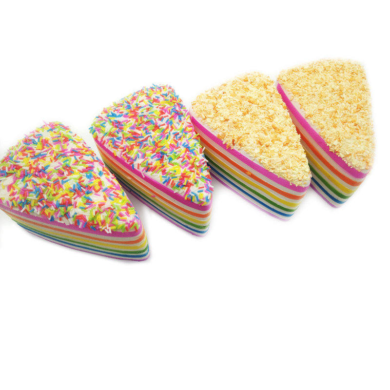 Цена за Супер замедлить рост мягкими 20 s Радуга торт мягкими новые стили хлеб Squishy Подвески 1 шт.