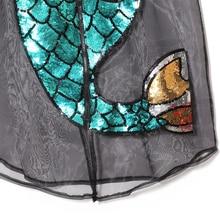 Mermaid mesh t shirt dress Womens long sleeve black sequin tshirt dress with zipper Korean Splicing Pleated Mesh shirt Dresses