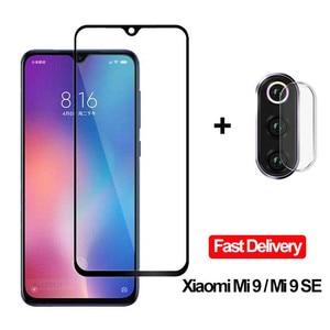 2-in-1 Camera Glasses Xiaomi Mi 9 SE 9se Tempered Glass Screen Protector Xiaomi Mi 9 Glass Flim 9 T Xiaomi Mi 9 se 9T MI9T(China)