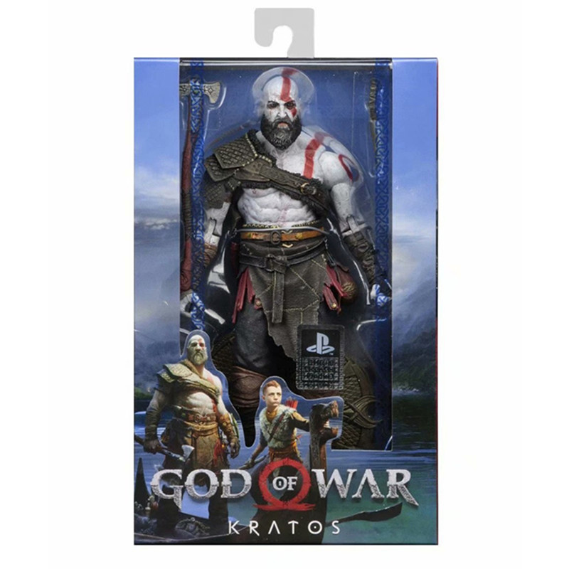 NECA Orignal God of War 4 Kratos PVC Action Figure Collectible Model Toys with Retail Box 22cm neca games god of war action figure ghost sparta kratos pvc figures ultimate edition cartoon toys collectible model toys