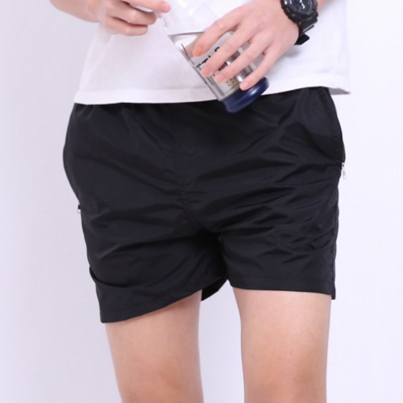 Men Sports Shorts Solid Color Breathable Loose Beach Pants for Summer -MX8