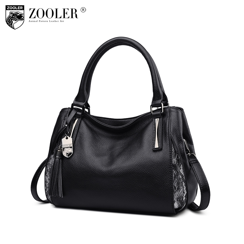ZOOLER 2018 NEW women leather bag genuine leather bags handbags woman famous brand top handle luxury bolsa feminina  #h105 sales zooler brand genuine leather bag shoulder bags handbag luxury top women bag trapeze 2018 new bolsa feminina b115