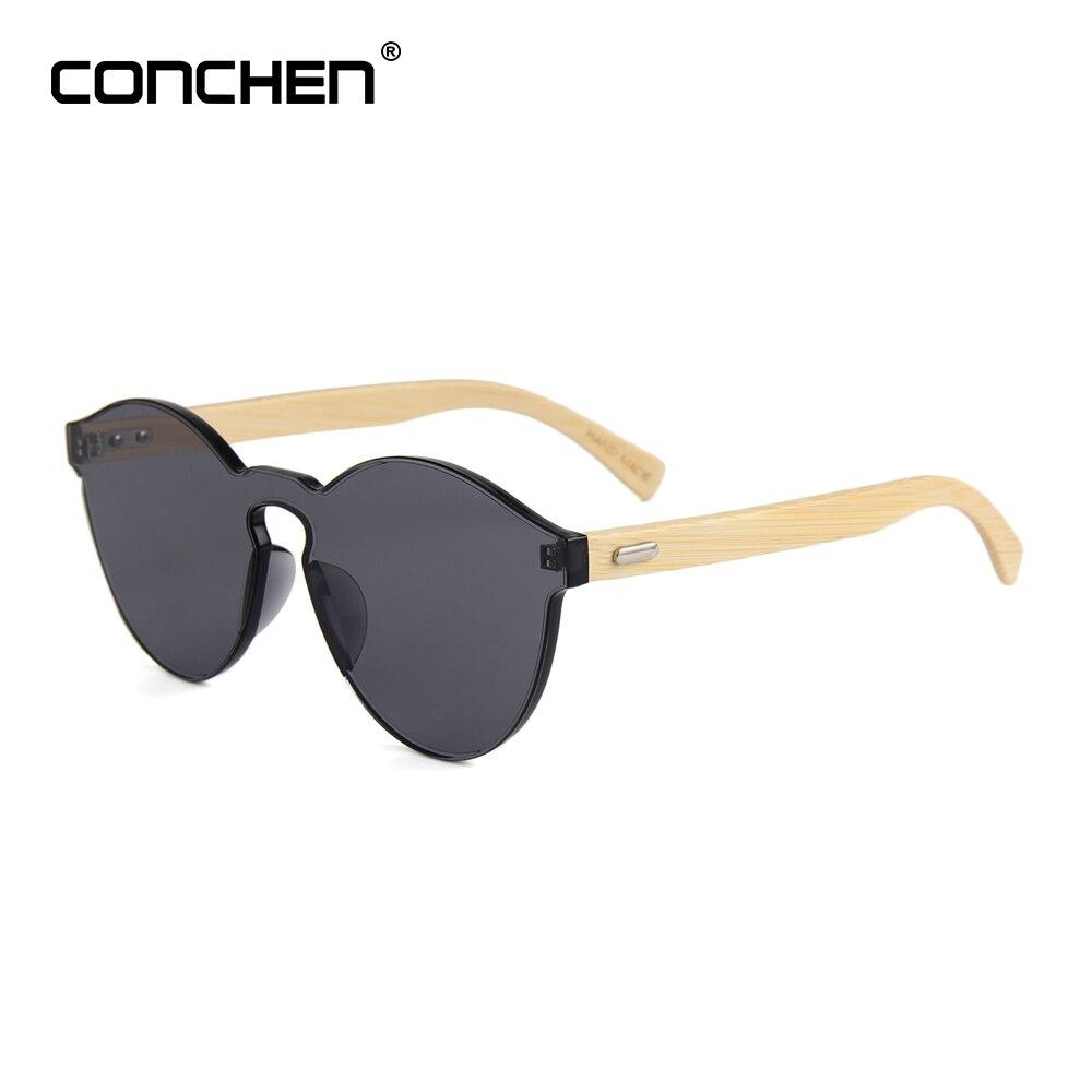 7d8d7a82a CONCHEN 2018 Nova Arriva Moda óculos de Sol Homens Mulheres Óculos de Sol  Óculos De Sol de Madeira de Bambu De Madeira