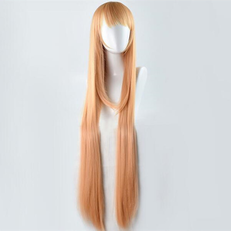 2018 Dropshipping Girls Anime HIMOUTO! UMARU-CHAN Cosplay Costume Wigs UMARU DOMA Long Orange Straight Hairs For Women+wig cap