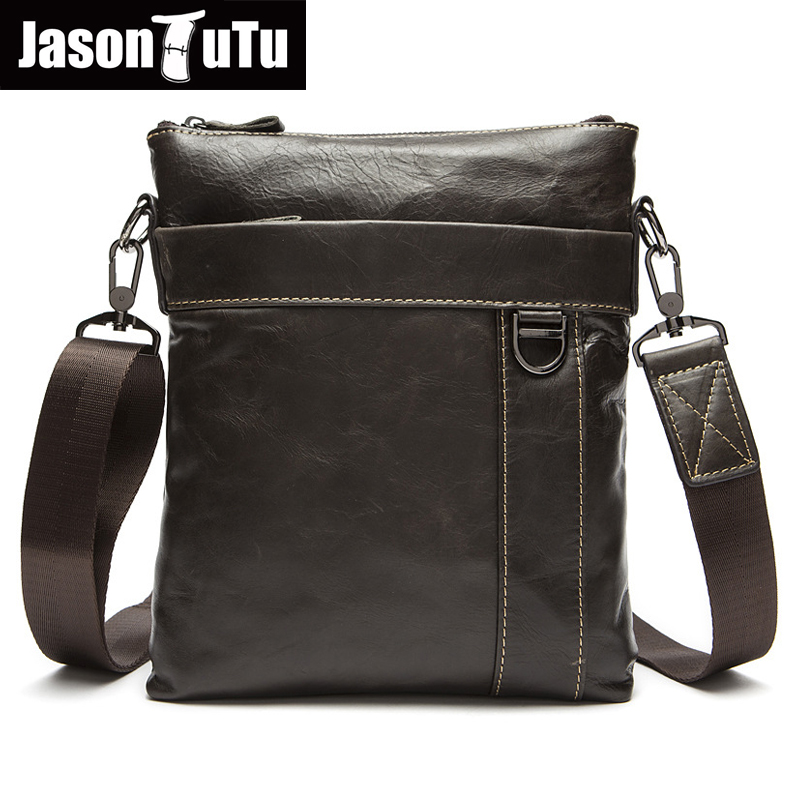 JASON TUTU Genuine Leather Bags Men High Quality Messenger Bags Travel Small Crossbody Shoulder Bag For Men bolsos HN105